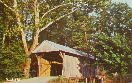 POSTCARD – VINTON COUNTY #4 COVERED BRIDGE