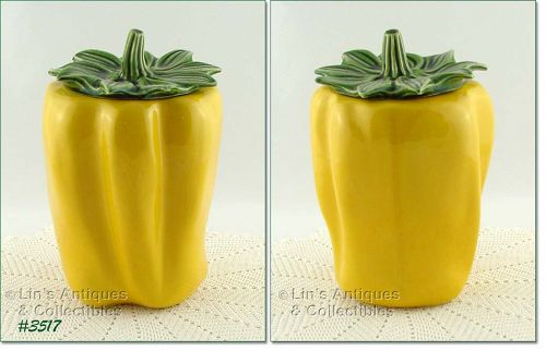 McCOY POTTERY – YELLOW PEPPER COOKIE JAR