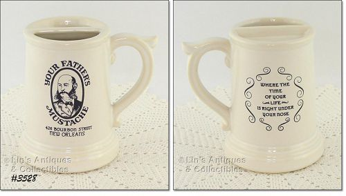 "McCOY POTTERY – ""YOUR FATHER'S MUSTACHE"" STEIN / MUG"