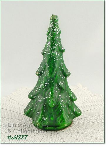 """GURLEY – LARGE GREEN TREE CANDLE (8 5/8"""")"""