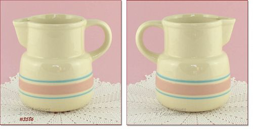 McCOY POTTERY – PINK AND BLUE PITCHER