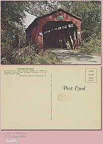 POSTCARD – CRAPLE COVERED BRIDGE, PUTNAM CO, INDIANA