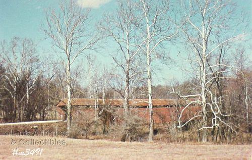 POSTCARD – WILLIAM MEYER COVERED BRIDGE, PUTNAM CO, IN.