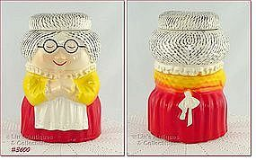 McCOY POTTERY – GRANDMA (GRANNY) COOKIE JAR (RED DRESS)