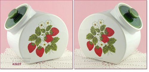 McCOY POTTERY – STRAWBERRY COUNTRY CANISTER/ COOKIE JAR