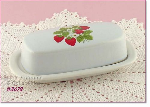 McCOY POTTERY – STRAWBERRY COUNTRY COVERED BUTTER
