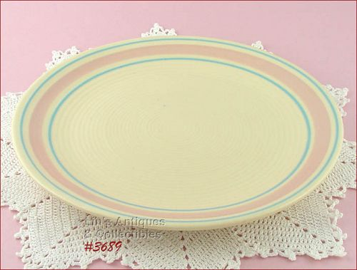 McCOY POTTERY – PINK AND BLUE SERVING PLATTER