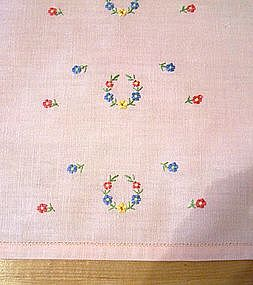 Set/3 Hand Embroidered Vintage Tea/Guest Towels