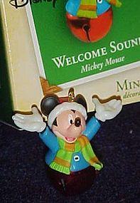 Hallmark miniature ornament Mickey Mouse Welcome Sound