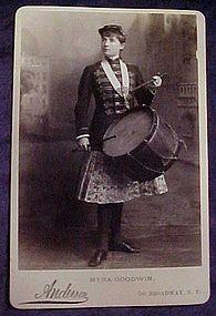 2 Myra Goodwin photo post cards 1880