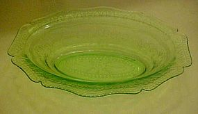 Federal Patrician spoke oval serving bowl green