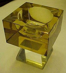 Stunning Imperlux German  cut crystal pedestal ashtray