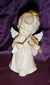 George Lefton angel playing violin figurine 05420