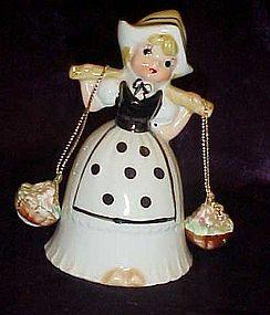 Hand painted Little Dutch girl bone china bell