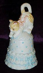 Adorable porcelain kitten bell