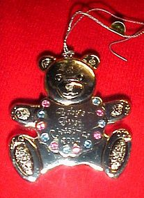 Reed and Barton Babys 1st Christmas 2004 bear ornament