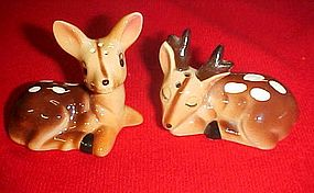 Norcrest  Oh Deer fawn salt  and pepper shakers H273