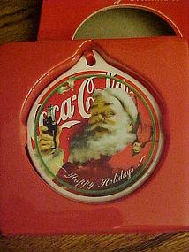 Coca Cola Collectors series ornament Santa Claus