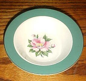 Homer Laughlin Century Green rimmed soup bowl