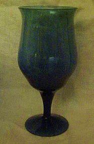 """Denby crystal Olympia blue water goblet 6 5/8"""""""