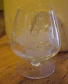 """Toscany Clipper ship Brandy glass 4 5/8"""""""