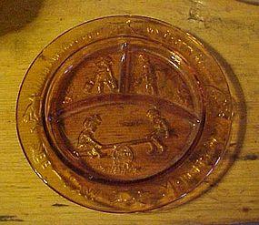 Tiara amber divided Nursery rhyme plate