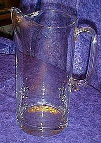 Large hand blown crystal Martini drink mixing pitcher