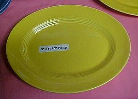 """HLC Harlequin yellow oval platter 9""""x 11 1/2"""""""