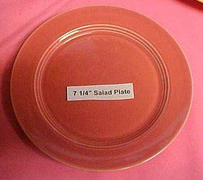 """HLC Harlequin rose or coral salad plate 7 1/4"""""""