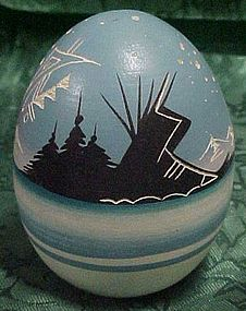 Authentic Native American Indian pottery egg for seeds