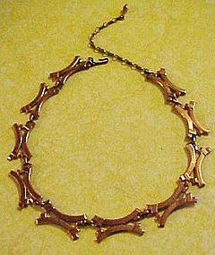 Renoir modernist copper necklace