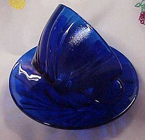 Vereco France cobalt blue swirl cup and saucer