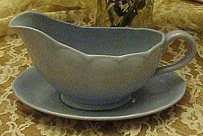 Grindley Blue Lupin Petal gravy boat and liner