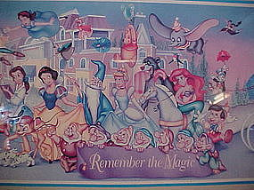 Framed Disney World Print 25 years remember the magic