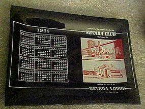 Nevada Club Lodge souvenir casino calendar ashtray