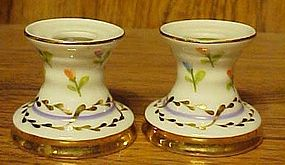 Dainty hand painted porcelain mini candle holders