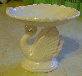 White ceramic swan soap dish, Lefton? C-793