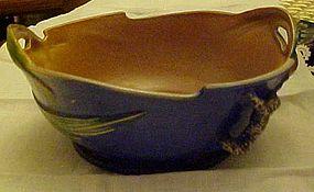 Vintage Roseville Pottery Blue Pinecone bowl #321-9
