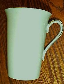 Noritake china 621 lt green w/gold hot chocolate mug
