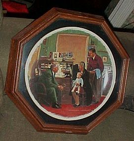 Framed Rockwell Plate The Country Doctor by Gorham
