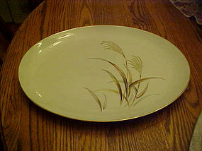 "Harmony House Fine China Golden Wheat 14 1/8"" platter"