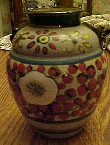Vintage h and painted Chinese pottery vase