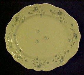 "Haviland Bavaria Blue Garland 12 4/8"" oval platter"