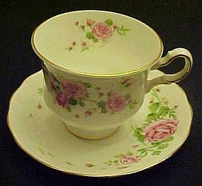 Vintage Avon Pink Roses bone china teacup and saucer
