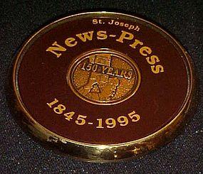 St Joseph News press 150 year anniversary paperweight