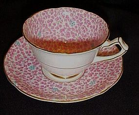 Vintage Gladstone pink chintz teacup and saucer England