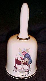 Ben Franklin Bi-centennial porcelain bell Dave Grossman