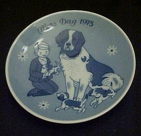 1975 Mors Dag limited ed. delft plate Porsgrunds Norway