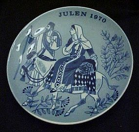 Julen 1970 limited ed delft plate Porsgrunds Norway