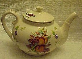 Vintage oven-proof  teapot with fruits pattern